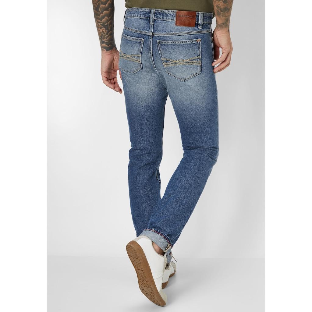 Paddock's 5-Pocket-Jeans »RANGER PIPE«, kontrastfarbiges Stitching