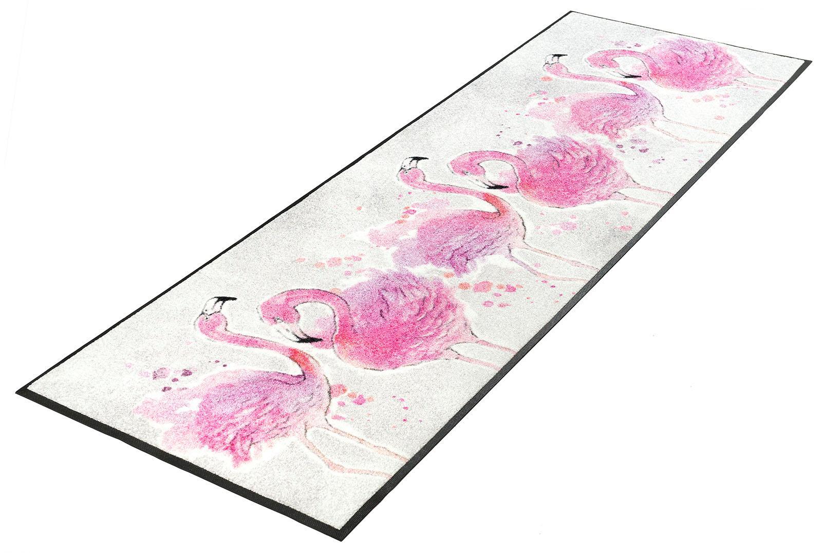 Läufer Flamingo wash+dry by Kleen-Tex rechteckig Höhe 7 mm gedruckt
