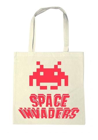 LOGOSHIRT Stoffbeutel mit Space Invaders - Druck kaufen