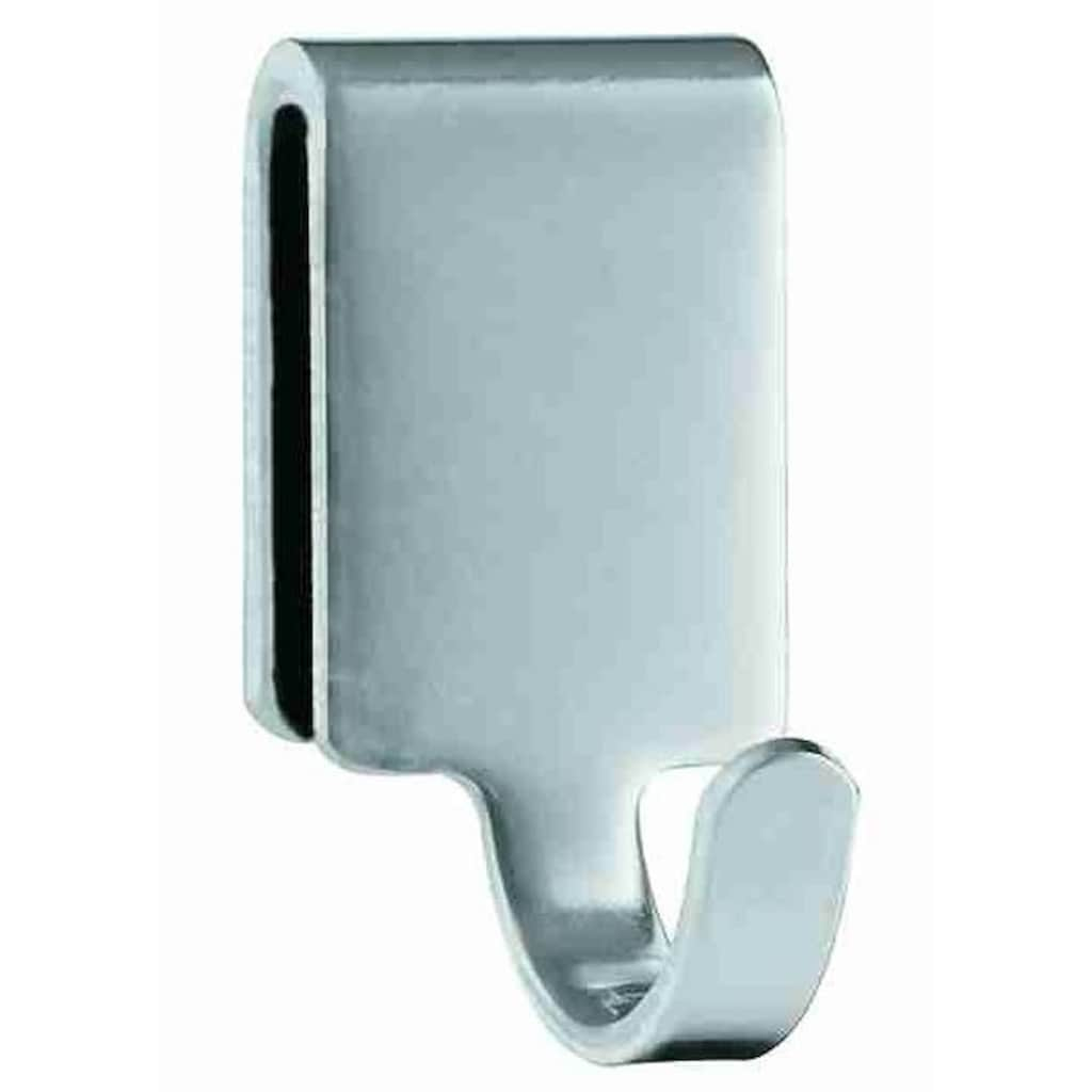 RÖSLE Drapierhaken, Einzelhaken, 2-tlg., Aufhängen von Küchengeräten an Küchenleisten, Edelstahl 18/10, spülmaschinengeeignet