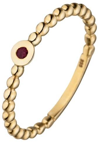 JOBO Fingerring, 333 Gold mit Rubin kaufen