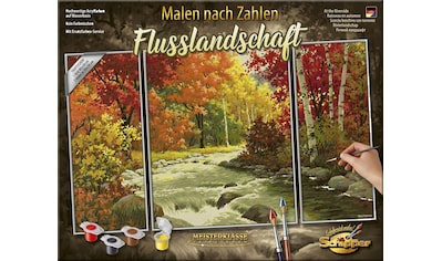 Schipper Malen nach Zahlen »Meisterklasse Triptychon, Flusslandschaft«, Made in Germany kaufen