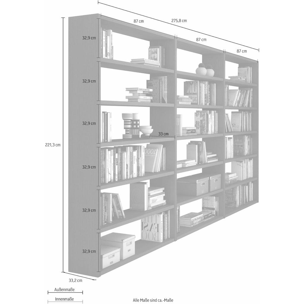 Raumteilerregal »Toro«, 18 Fächer, Breite 275,8 cm
