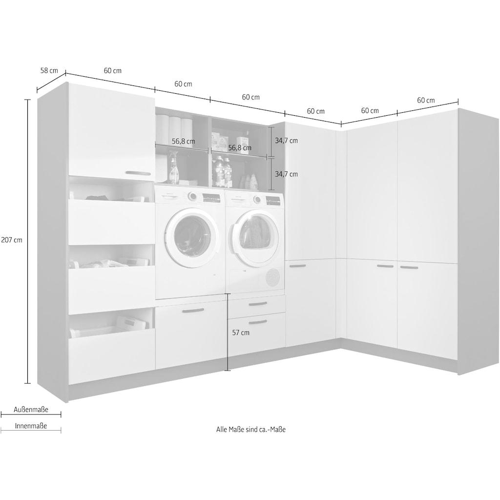 Express Küchen Schrank-Set »Arta«, (12 St.), ohne Geräte, vormontiert, mit Soft-Close-Funktion, Stellbreite 310x190cm