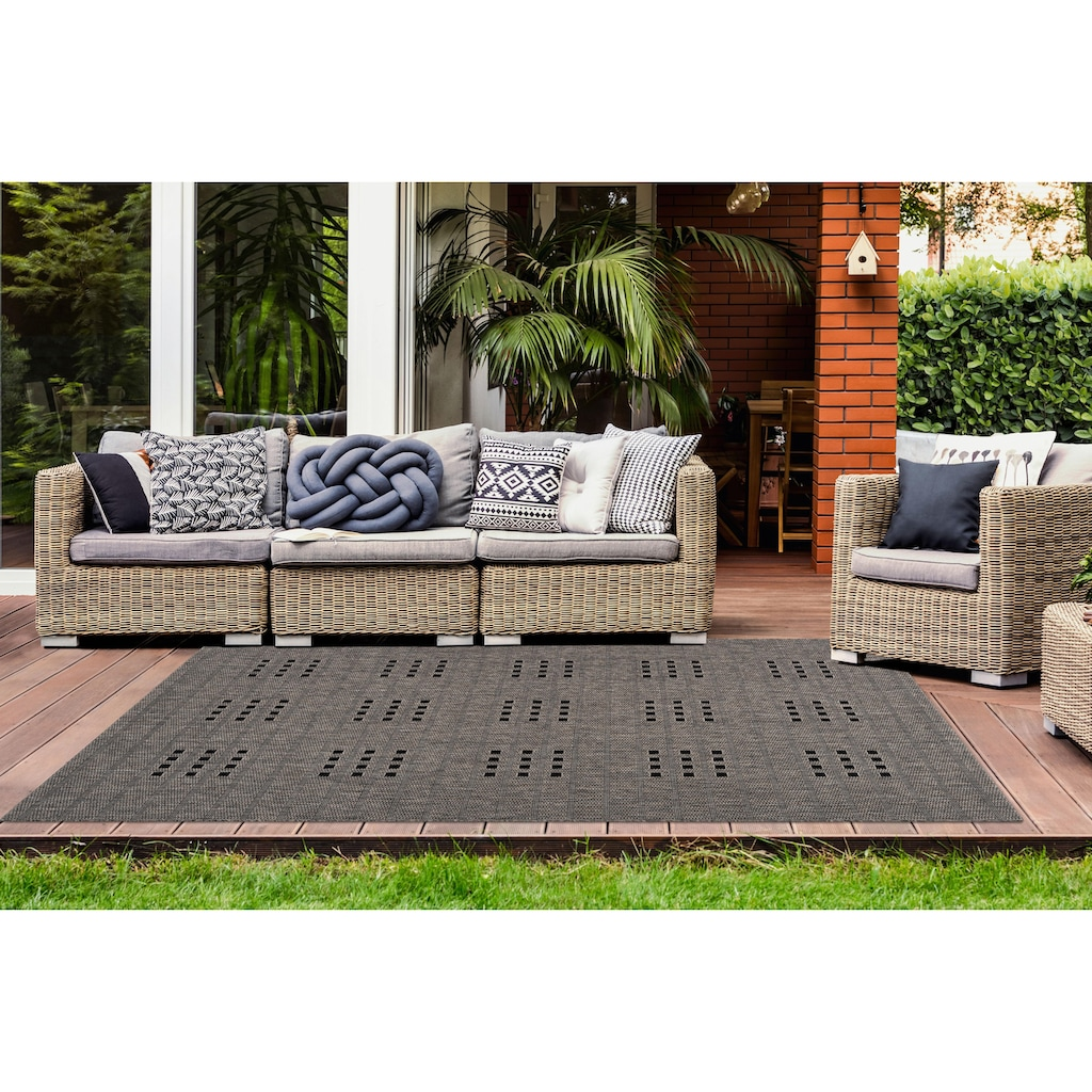 LALEE Teppich »Sunset 606«, rechteckig, 5 mm Höhe, In- und Outdoor geeignet, Wohnzimmer