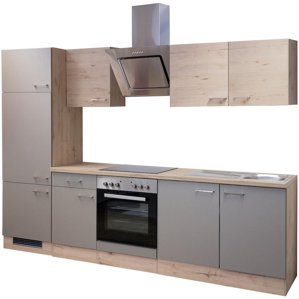 Flex-Well Küchenzeile »Riva«, mit E-Geräten, Breite 270 cm