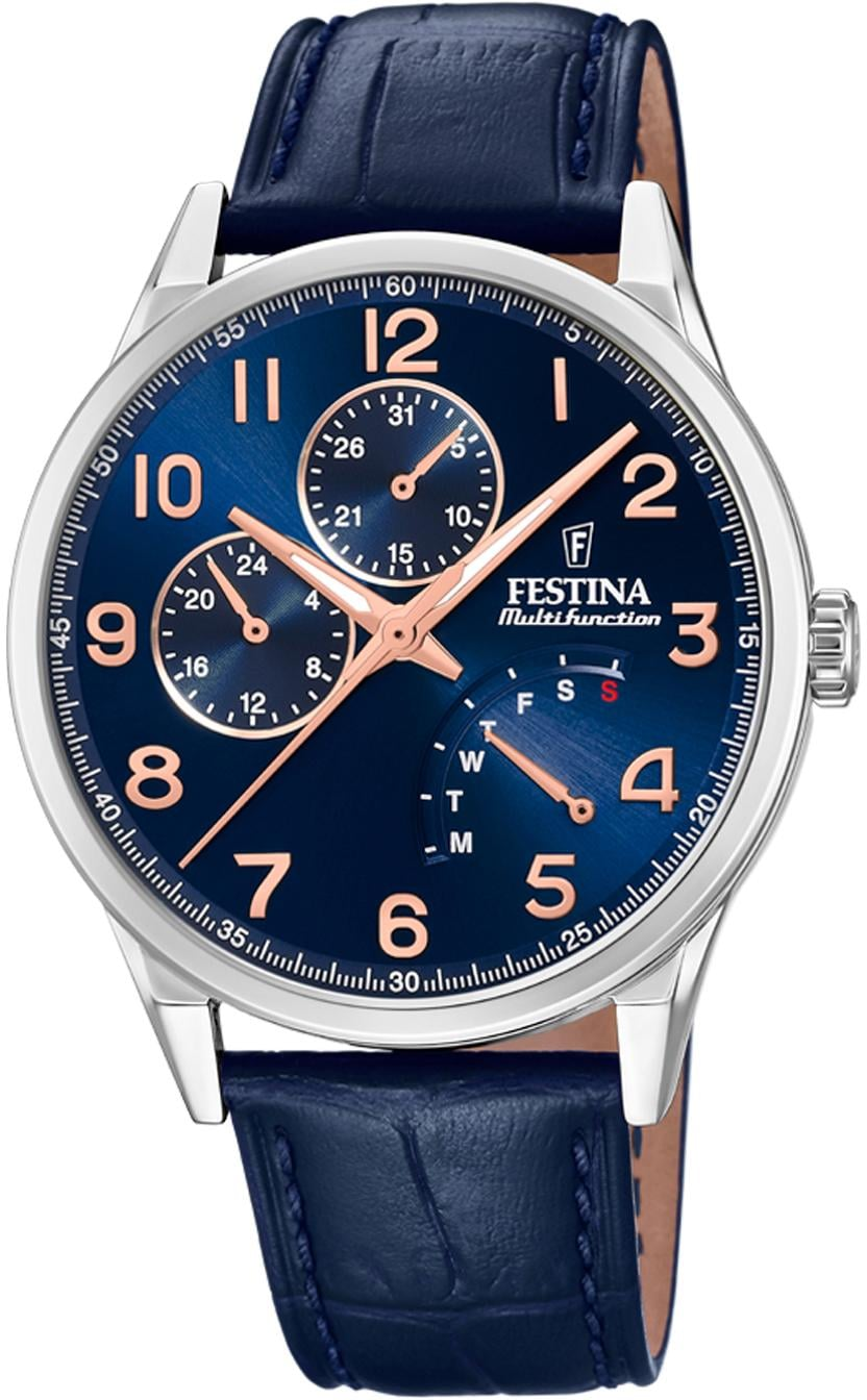 Festina Multifunktionsuhr F20278/B | Uhren > Multifunktionsuhren | Blau | Festina