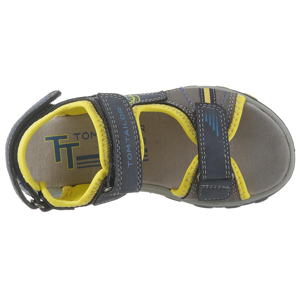 TOM TAILOR Sandale, mit drei Klettverschlüssen