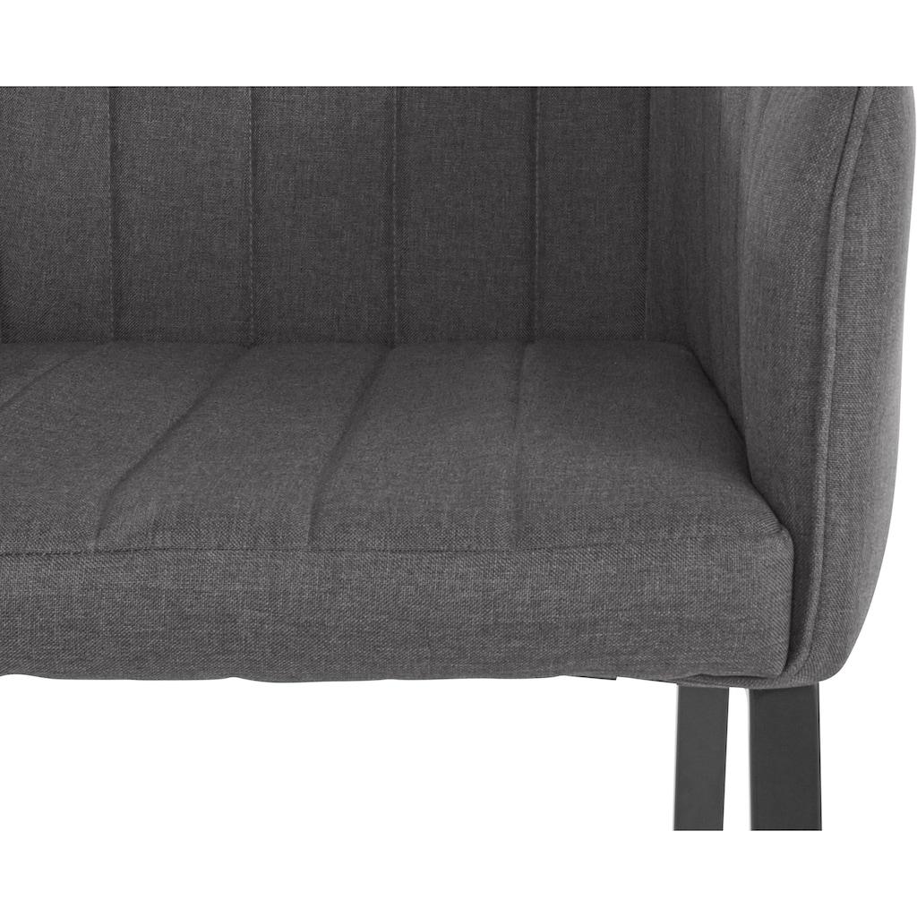 INOSIGN Armlehnstuhl »Gavin«, mit pflegeleichtem Webstoff Bezug, Gestell aus Metall, Sitzhöhe 50 cm