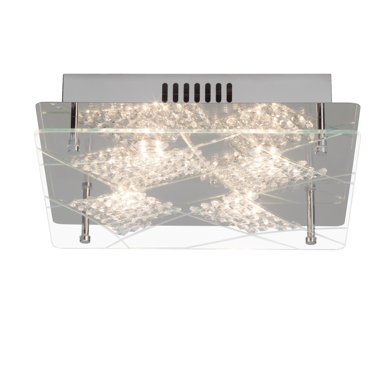 Brilliant Leuchten Fine LED Deckenleuchte 4flg chrom