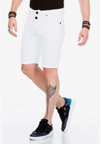 Cipo & Baxx Shorts, mit klassischem Knopf-Verschluss kaufen