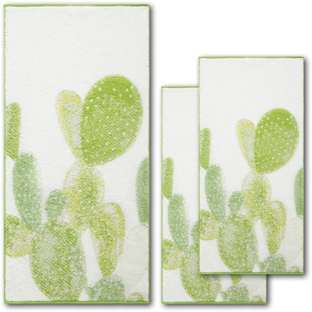 Dyckhoff Handtuch Set »Green Paradise Cactus«, mit Kakteenmotiven