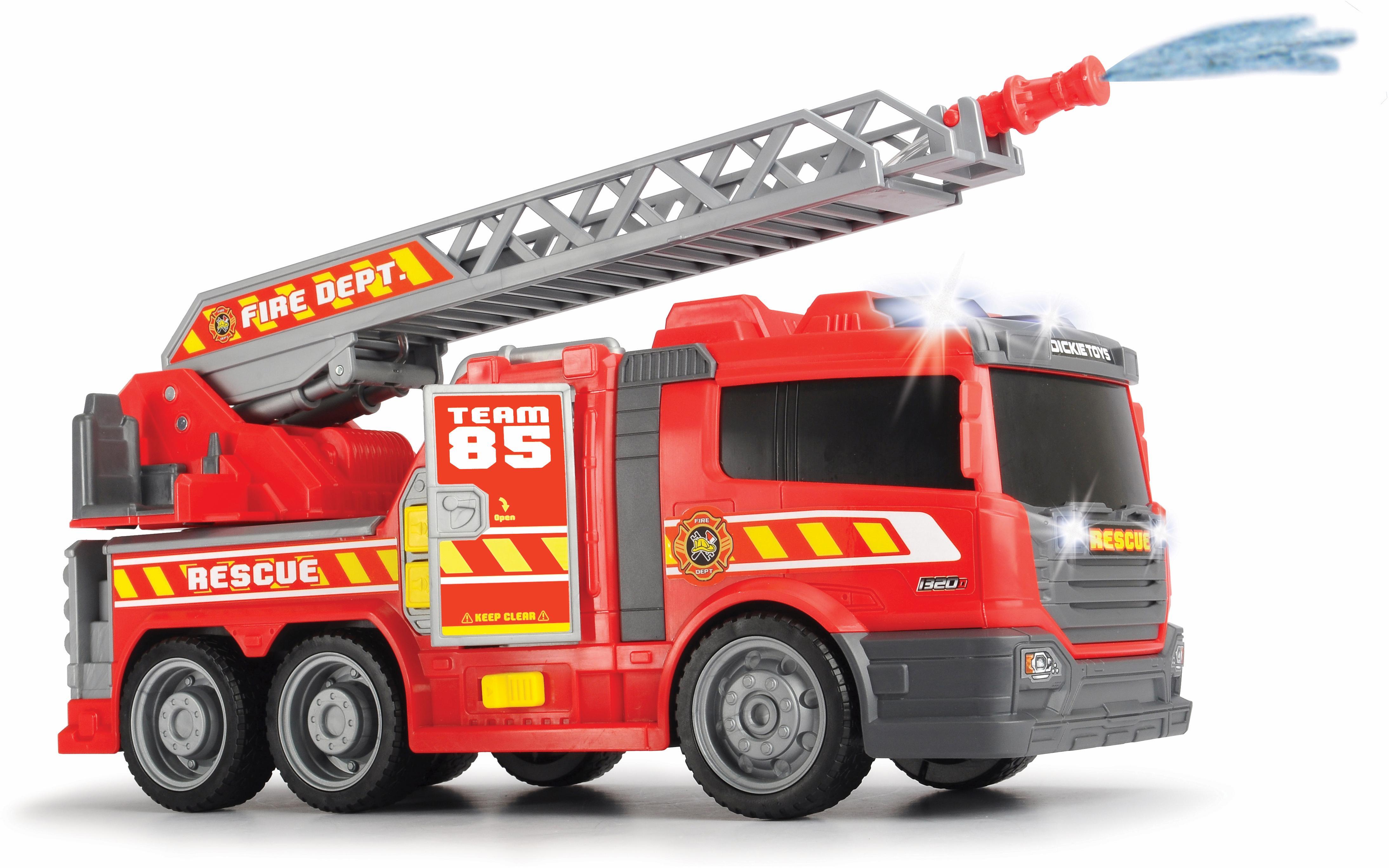 Dickie Toys Spielzeug-Feuerwehr Fire Fighter - Feuerwehrauto rot Kinder Ab 3-5 Jahren Altersempfehlung Spielzeugfahrzeuge