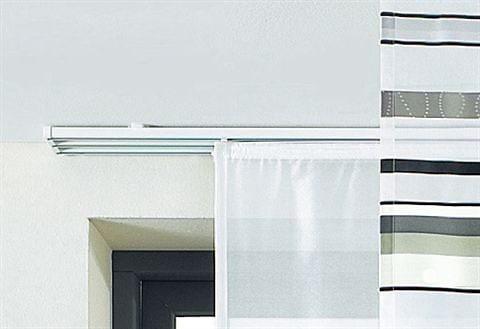 sunlines Schienensystem, 3 läufig-läufig, ausziehbar, Komplett-Set weiß Gardinenschienen Gardinen Vorhänge Schienensystem