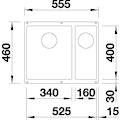 Blanco Granitspüle »SUBLINE 340/160-U«