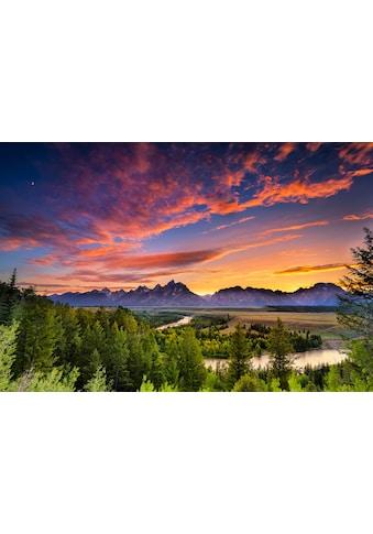 Papermoon Fototapete »Snake River Sonnenuntergang«, Vliestapete, hochwertiger... kaufen