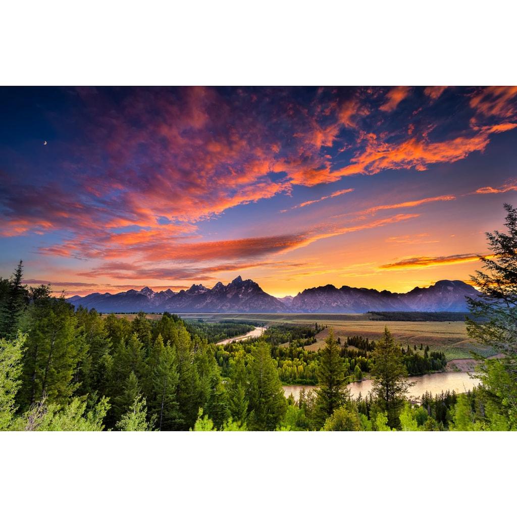 Papermoon Fototapete »Snake River Sonnenuntergang«, Vliestapete, hochwertiger Digitaldruck