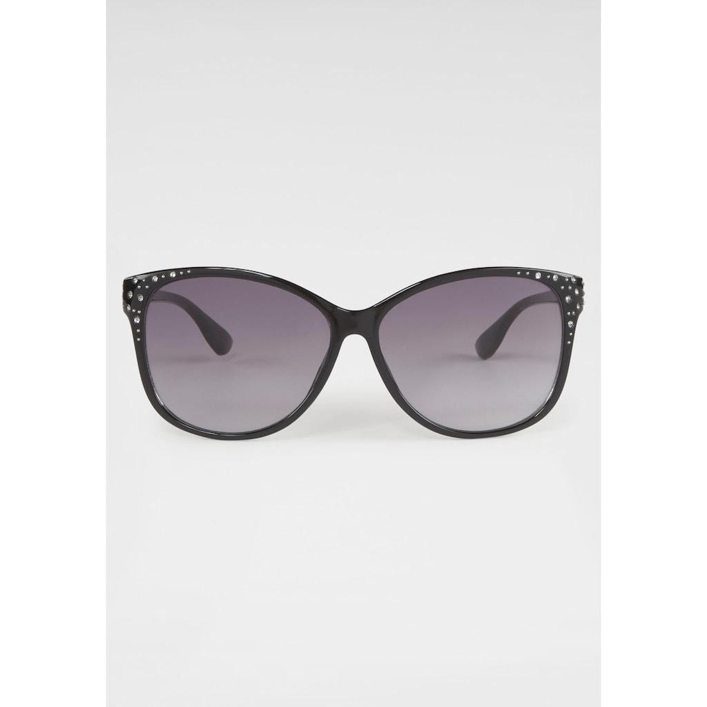 catwalk Eyewear Sonnenbrille, mit Glitzersteinen, Vollrand