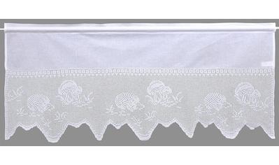 HOSSNER - ART OF HOME DECO Querbehang »Igel«, handgehäkelte Spitze, weiß, Baumwolle kaufen