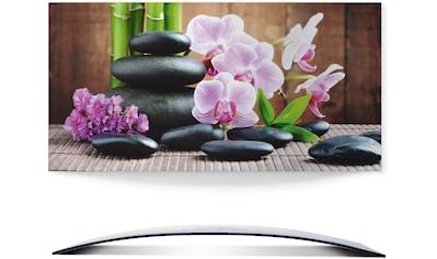 Artland Wandbild »Spa Konzept Zen Steinen Orchideen«, Zen, (1 St.), 3D Optik gebogen kaufen