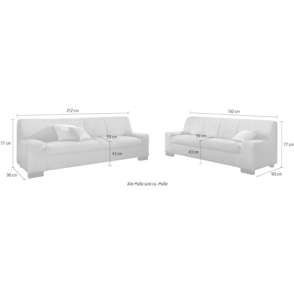 DOMO collection Polstergarnitur »Norma«, (Set, 2 tlg.), bestehend aus je einem 2- und 3-Sitzer