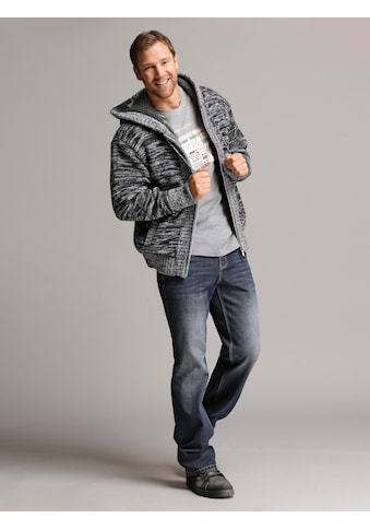 Men Plus by HAPPYsize Strickjacke mit Kapuze und Teddyfutter kaufen