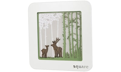 Weigla LED-Bild »Square - Standbild Wald«, (1 St.), mit Timerfunktion kaufen
