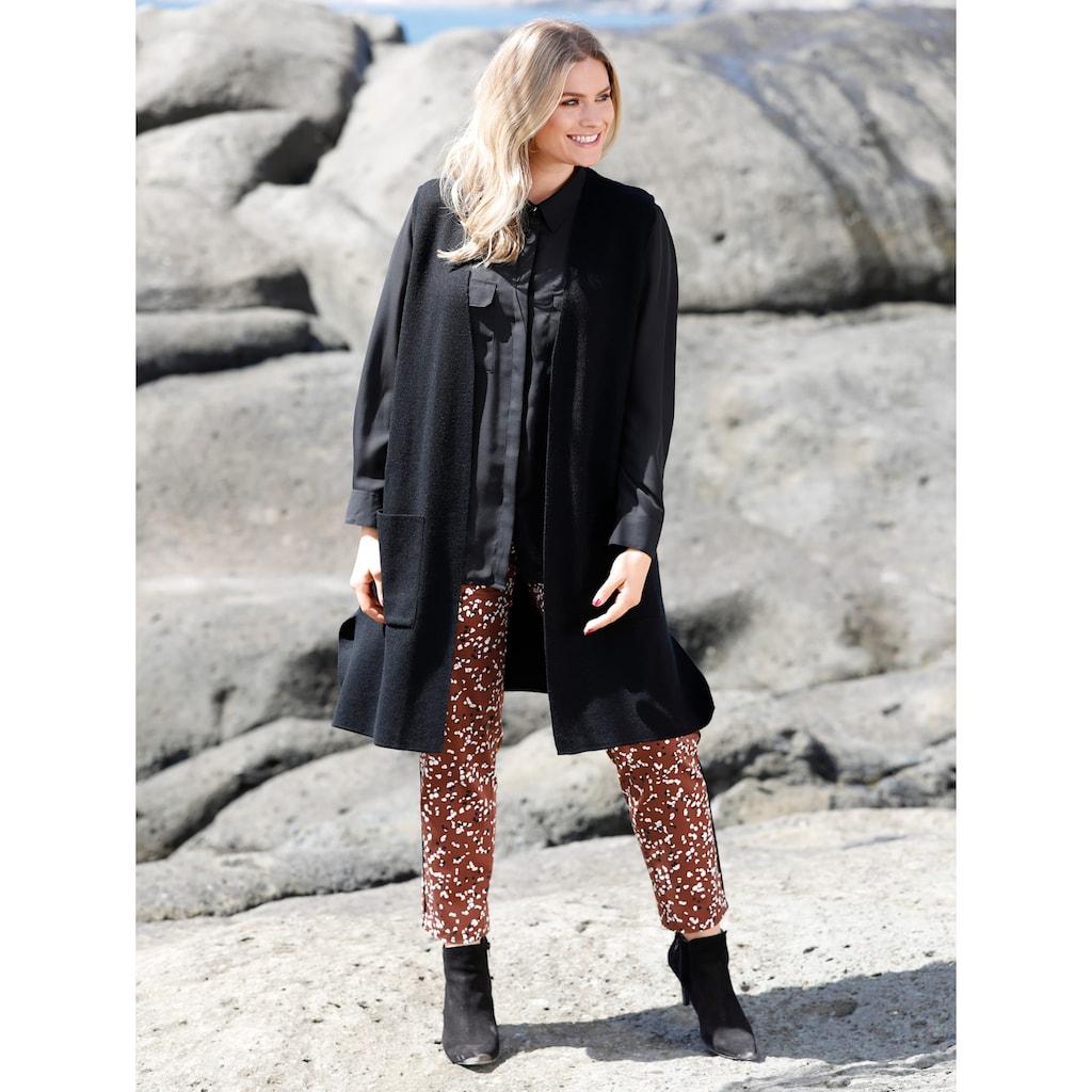 Sara Lindholm by HAPPYsize Longstrickweste mit Taschen