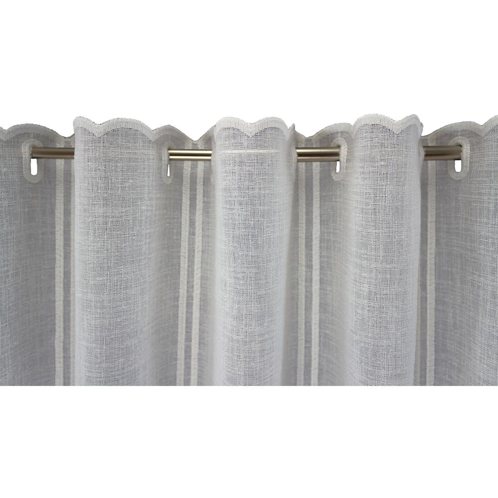 VHG Scheibengardine nach Maß »Tassja«, Kurzgardine, Stickerei, Bistro