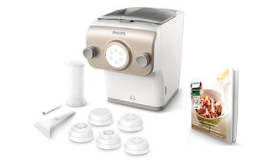 Philips Nudelmaschine Pastamaker HR2381/05 Avance Collection mit Wiegefunktion und 6 Formscheiben, 200 Watt kaufen