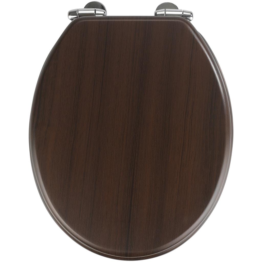 WENKO WC-Sitz »Wenge«, Mit Absenkautomatik