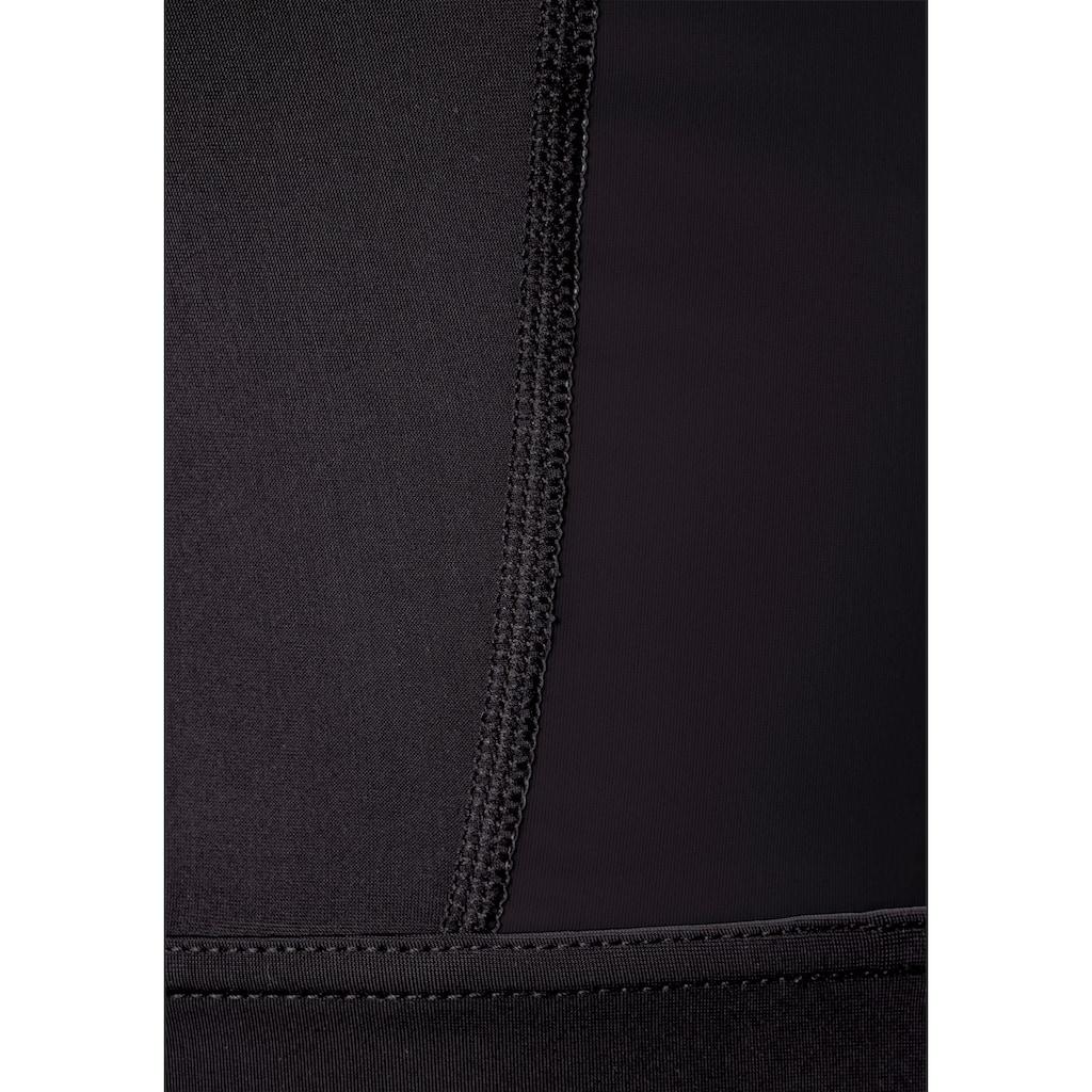 LASCANA ACTIVE Crop-Top »Digital Mauve«, mit Cut Out an der Rückseite
