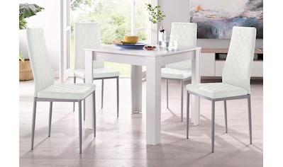 my home Essgruppe »Lynn + Brooke«, (Set, 5 tlg.), mit Tisch in Weiß, Breite 80 cm kaufen