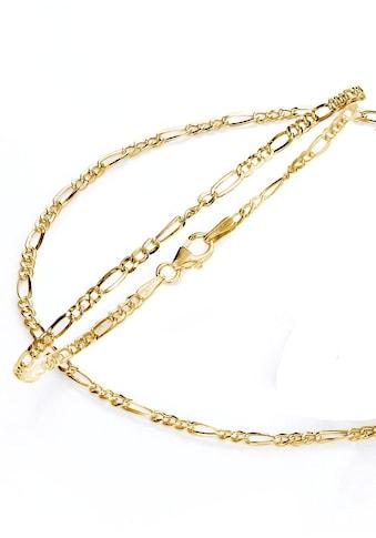 Firetti Schmuckset »Kette und Armband in Figarokettengliederung, 2 - fach diamantiert, poliert« kaufen
