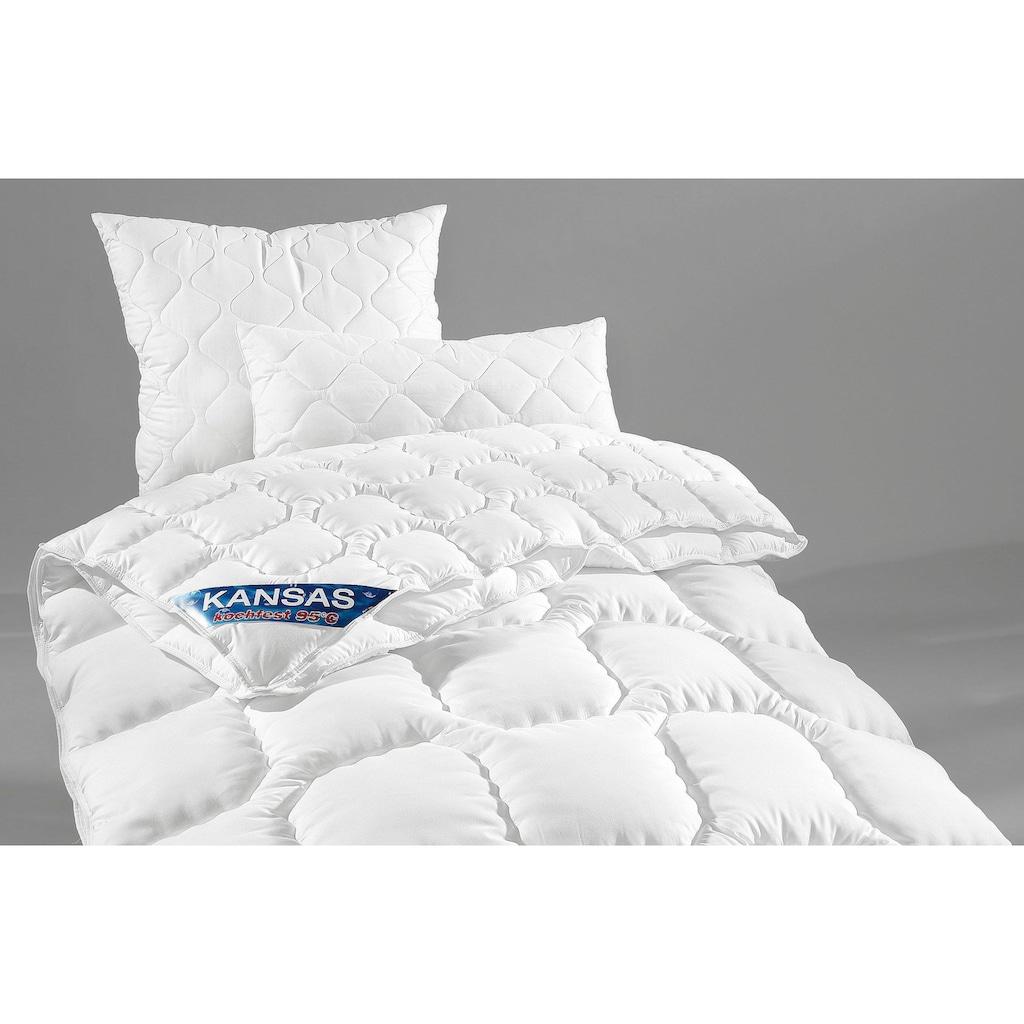 f.a.n. Schlafkomfort Microfaserbettdecke + Kopfkissen »Kansas«, (Spar-Set), f.a.n.-Topseller - seit Jahren bestens bewährt