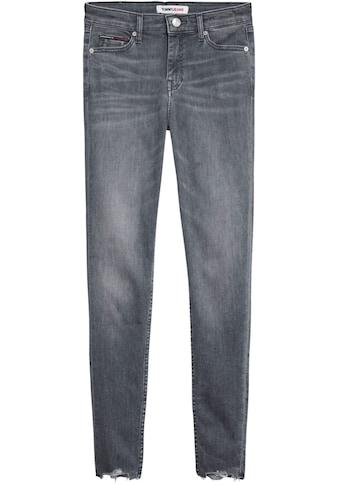 Tommy Jeans Skinny-fit-Jeans »NORA MR SKNY ANKLE BE181 GRS«, mit ausgefranstem Saum &... kaufen