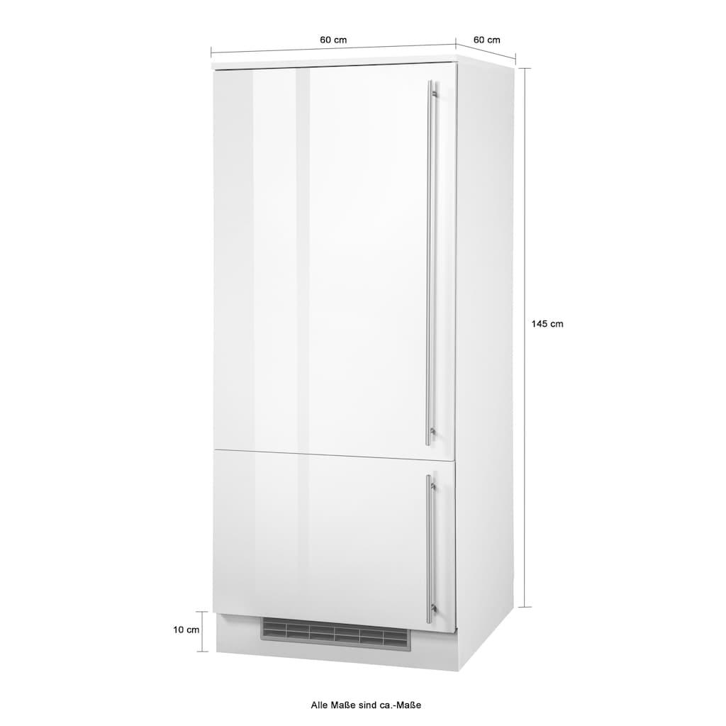 wiho Küchen Kühlumbauschrank »Chicago«, 60 cm breit, für Einbaukühlschrank