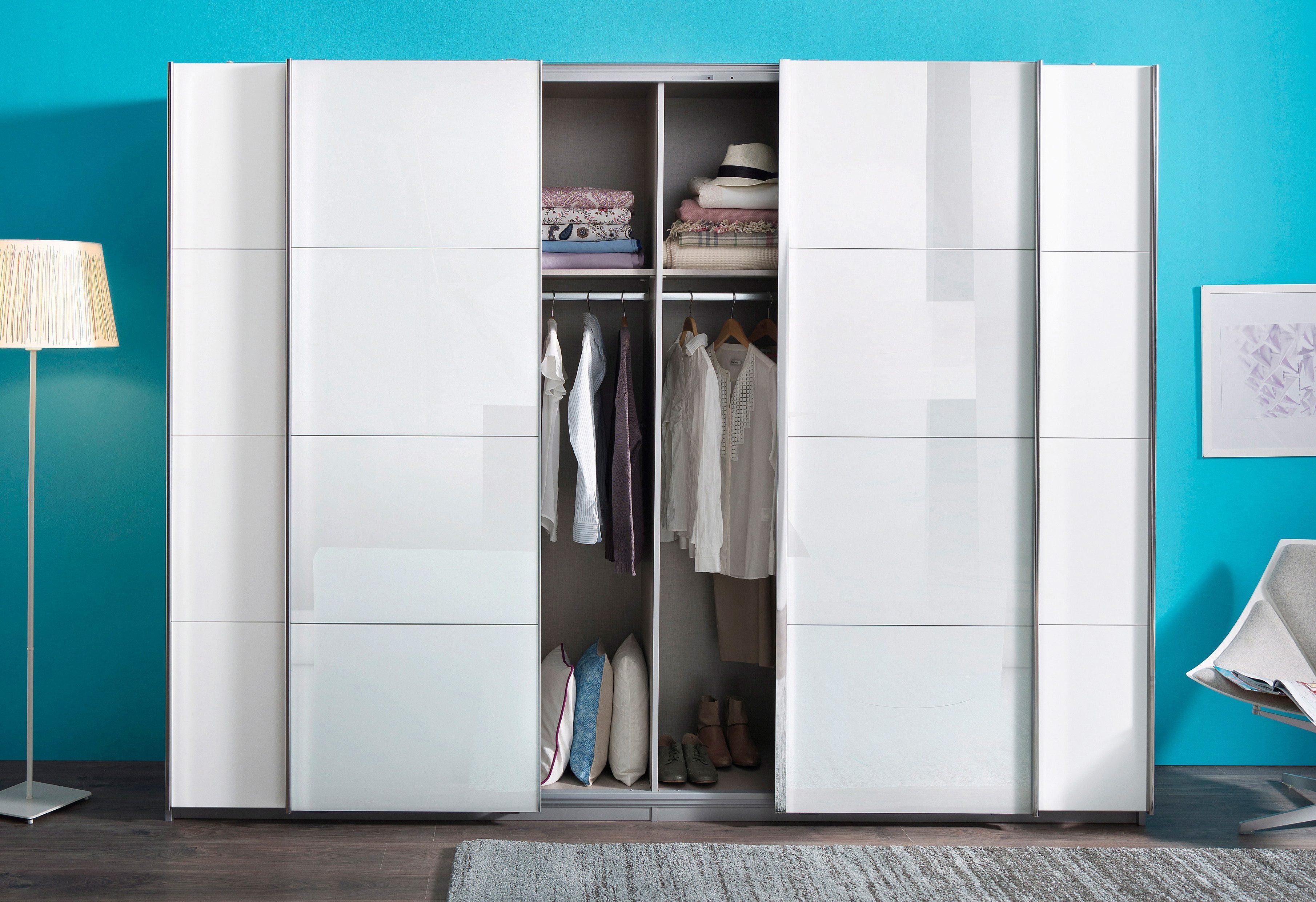 rauch PACK`S Schwebetürenschrank mit Syncronöffnung | Schlafzimmer > Kleiderschränke > Schwebetürenschränke | Schwarzglas | RAUCH