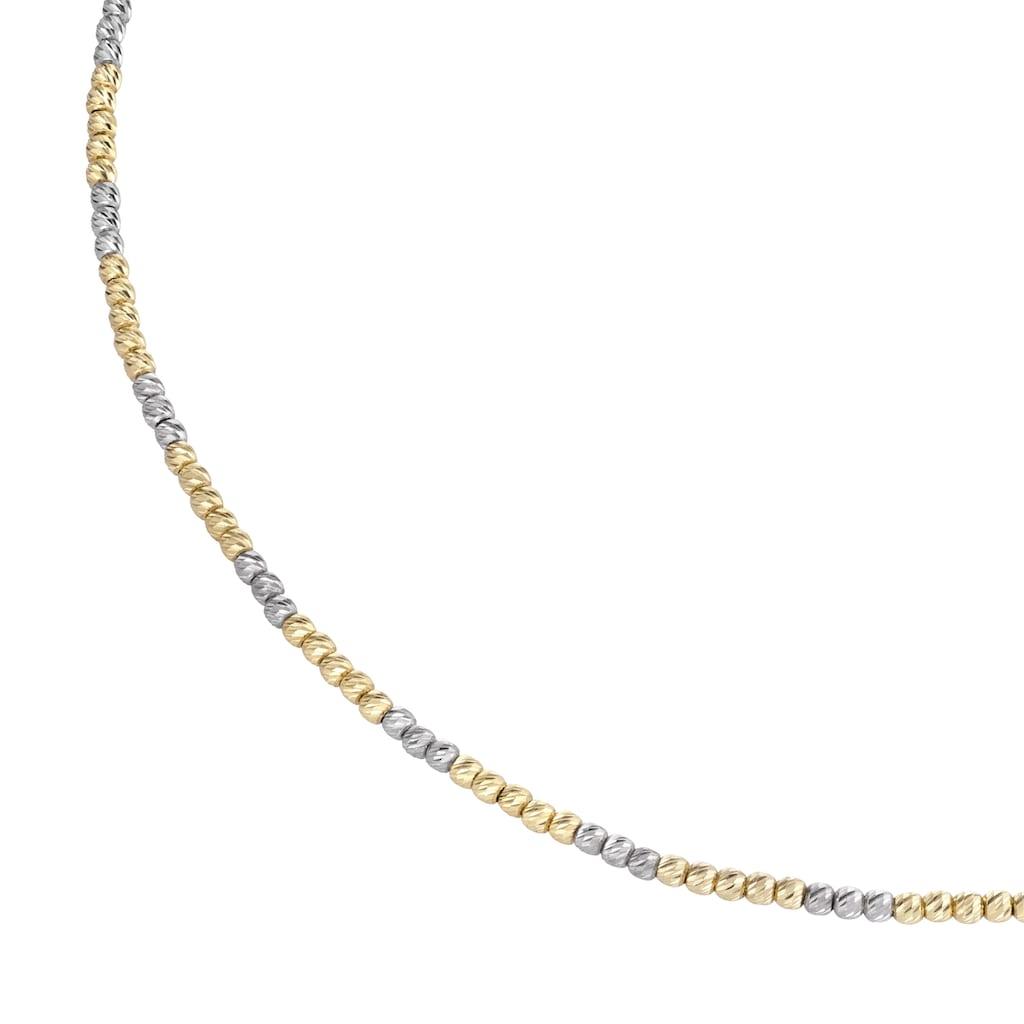 Luigi Merano Goldkette »mit facettierten Kugeln, Gold 585«