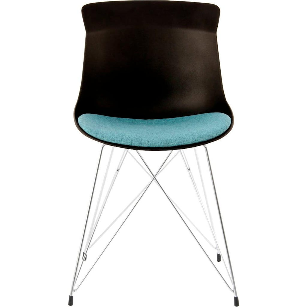 Kayoom Schalenstuhl »Emily«, mit farblich abgesetztem Sitzkissen