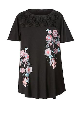 Sara Lindholm by Happy Size Shirt mit Spitze kaufen