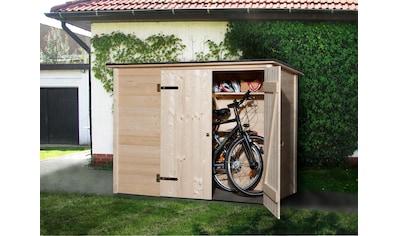 WEKA Fahrrad - /Mülltonnenunterstand , B/T/H: 205/84/151 cm kaufen