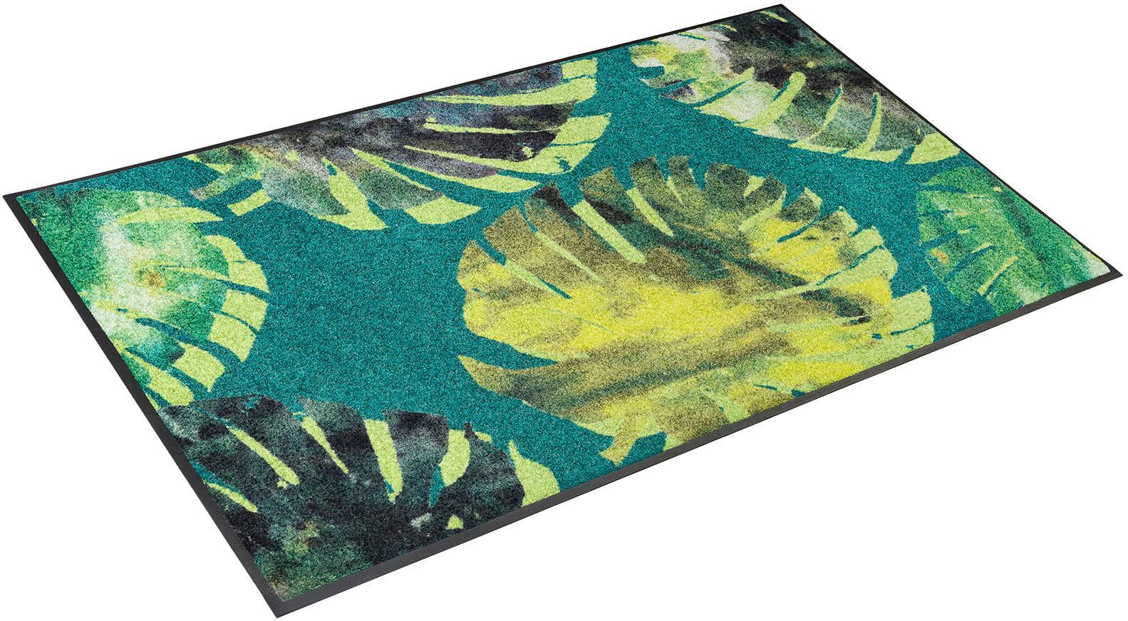 Teppich Philo Leaves wash+dry by Kleen-Tex rechteckig Höhe 7 mm gedruckt