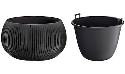 Prosperplast Blumentopf »Beton Bowl«, (1 St.), Ø37cm x 21,8cm kaufen