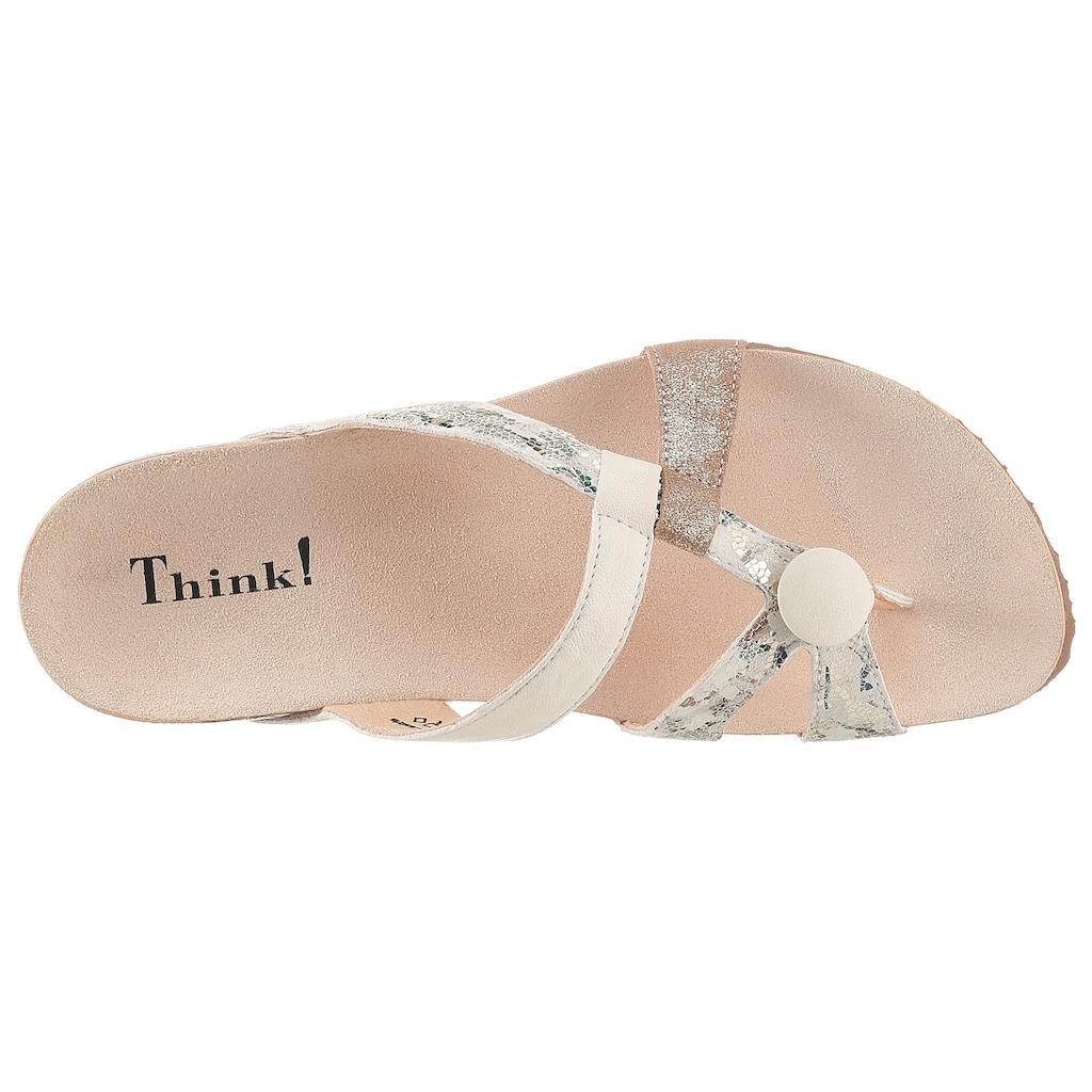 Think! Zehentrenner »Julia«, mit weichem Zehensteg