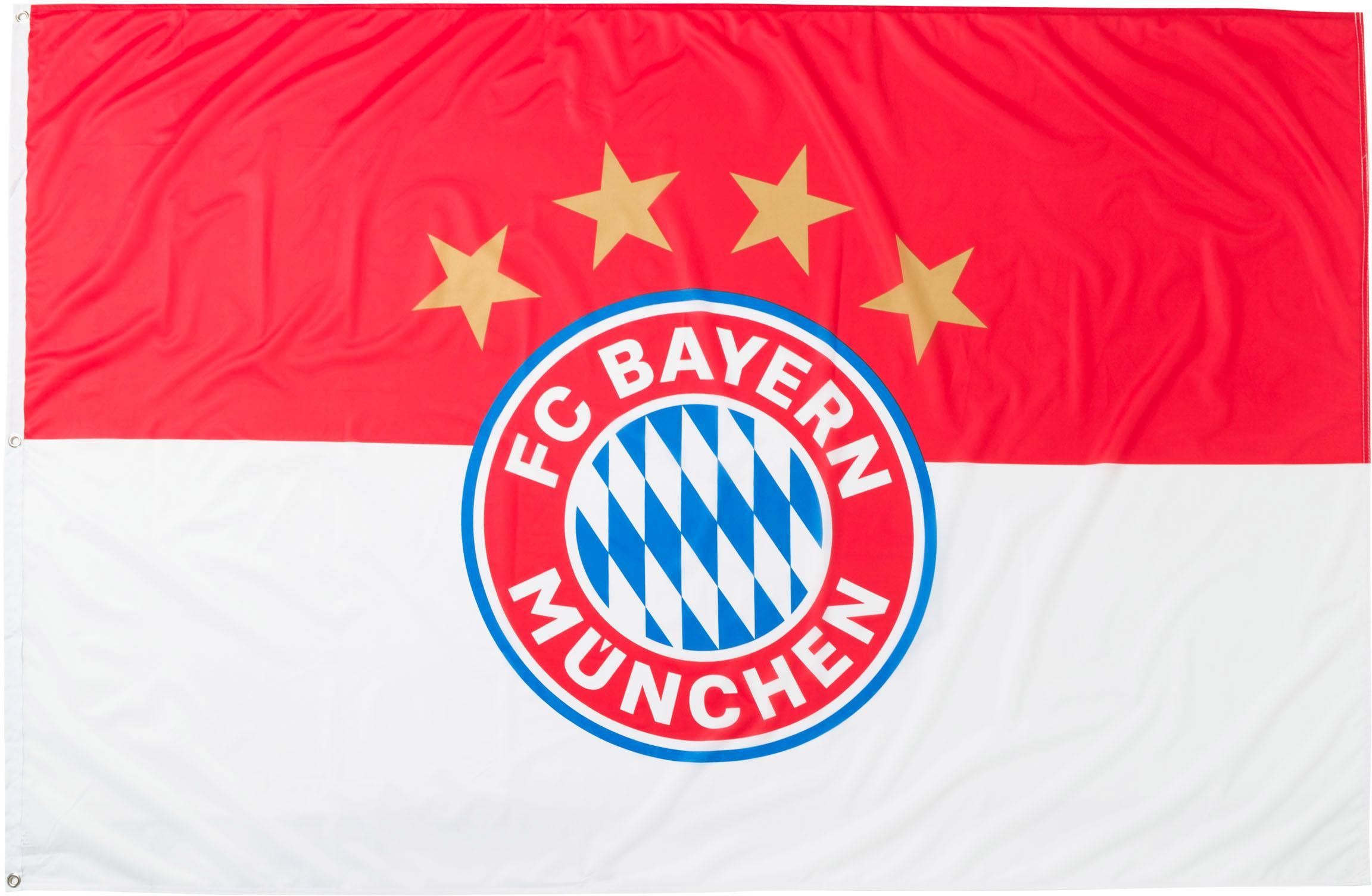 FC Bayern Fahne Hissfahne Logo FCB rot Kinder Fahnen Weitere Fanartikel