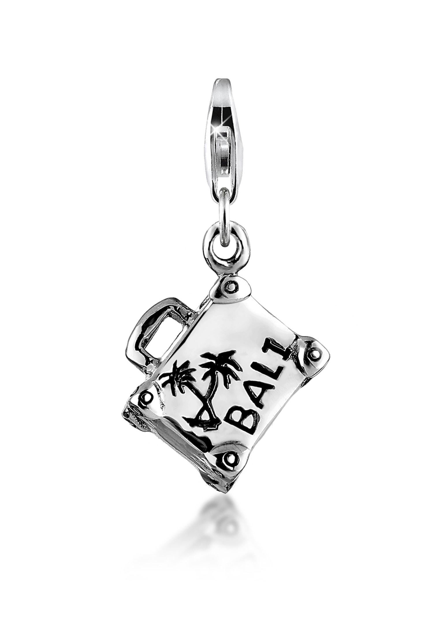 Nenalina Charm-Einhänger Anhänger Koffer Bali Schriftzug Urlaub 925 Silber | Schmuck > Charms | Nenalina