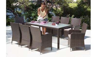 Entzuckend Gartenmöbelset »San Remo«, 17   Tlg., 8 Sessel, Tisch 185x90