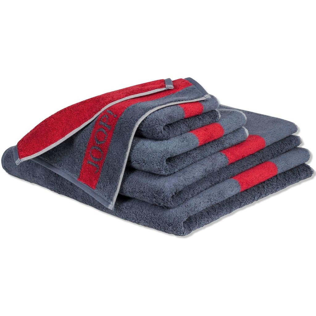 Joop! Handtücher »INFINITY Doubleface«, (2 St.), mit kontrastierendem Streifen