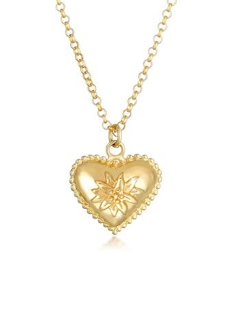 Elli Kette mit Anhänger »Herz Edelweiss Wiesn Dirndl Look 925 Silber« kaufen